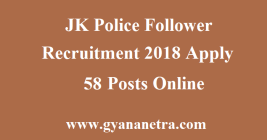 JK Police Follower Recruitment