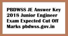 PBDWSS JE Answer Key
