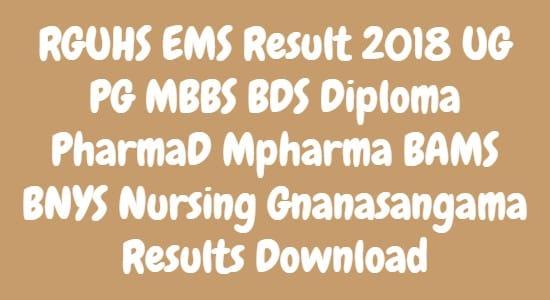 RGUHS EMS Result