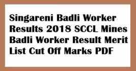 Singareni Badli Worker Results
