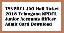 TSNPDCL JAO Hall Ticket