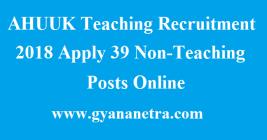 AHUUK Teaching Recruitment