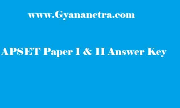 Sakshi APSET Answer Key PDF Paper 1 2