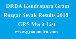 DRDA Kendrapara Gram Rozgar Sevak Results