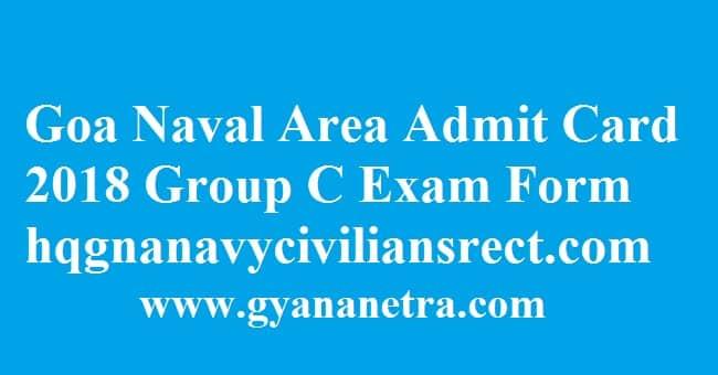 Goa Naval Area Admit Card