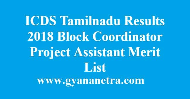 ICDS Tamilnadu Results