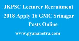 JKPSC Lecturer Recruitment