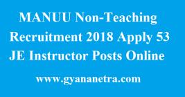 MANUU Non-Teaching Recruitment