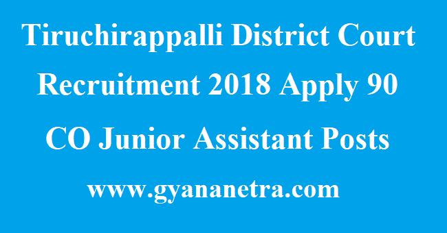 Tiruchirappalli District Court Recruitment