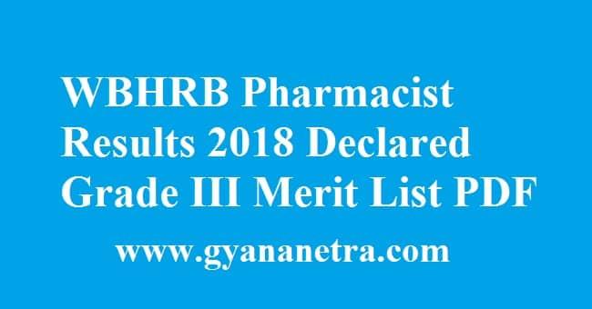 WBHRB Pharmacist Results