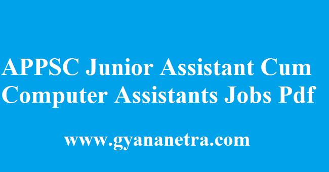 APPSC Junior Assistant Cum Computer Assistant Recruitment 2018