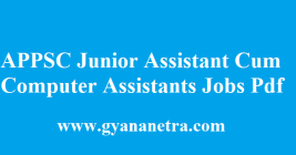 APPSC Junior Assistant Cum Computer Assistant Recruitment 2018