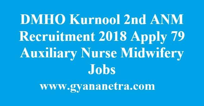 DMHO Kurnool 2nd ANM Recruitment