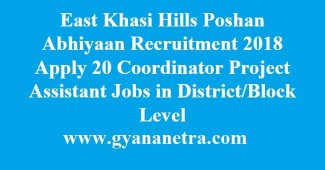 East Khasi Hills Poshan Abhiyaan Recruitment