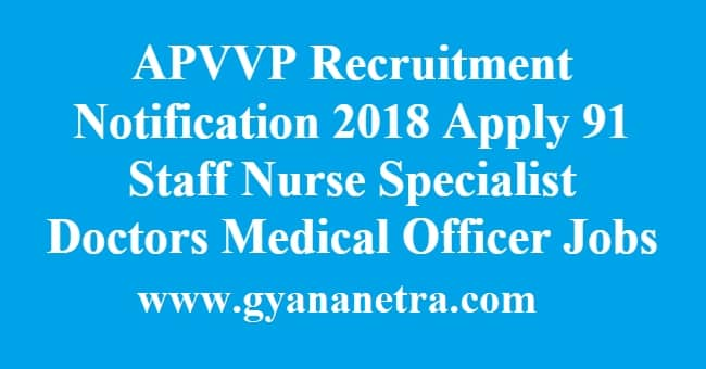 APVVP Recruitment Notification