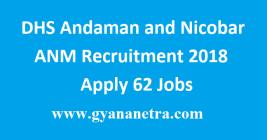 DHS Andaman and Nicobar ANM Recruitment