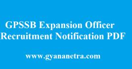 GPSSB Expansion Officer Recruitment 2018