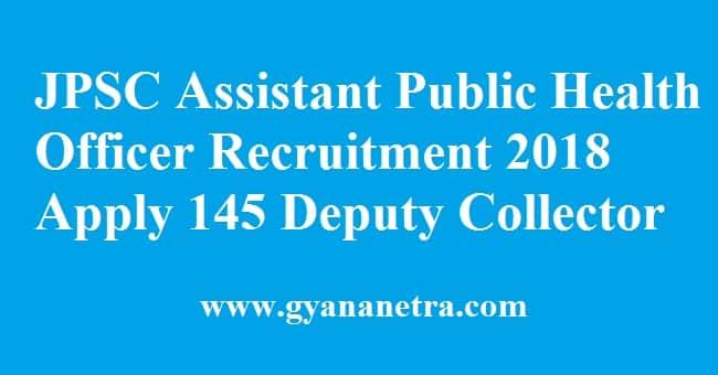 JPSC Assistant Public Health Officer Recruitment