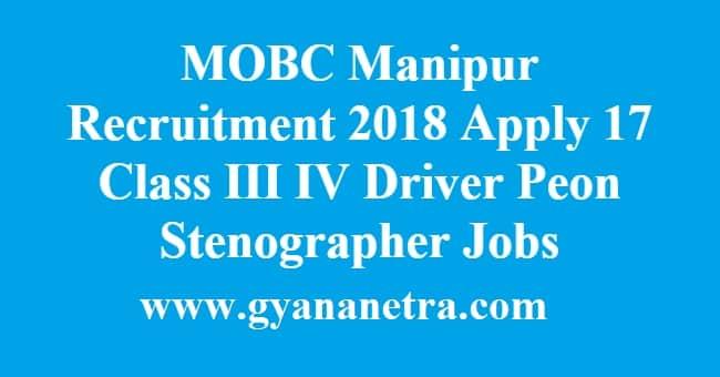 MOBC Manipur Recruitment 2018