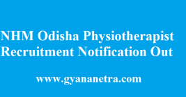 NHM Odisha Physiotherapist Recruitment 2018