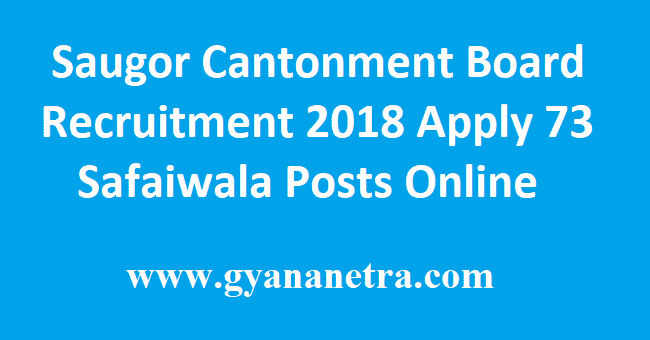 Saugor Cantonment Board Recruitment