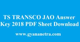 TS TRANSCO JAO Answer Key 2018