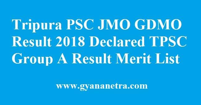 Tripura PSC JMO GDMO Result