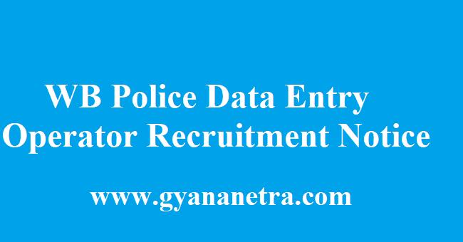 WB Police Data Entry Operator Recruitment 2018