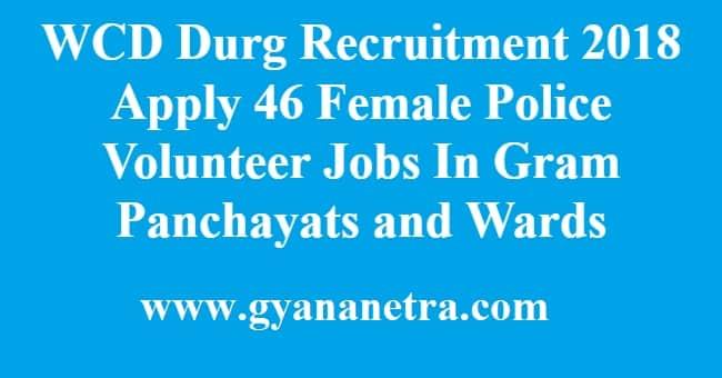 WCD Durg Recruitment