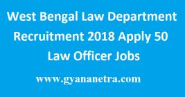 West Bengal Law Dept Recruitment