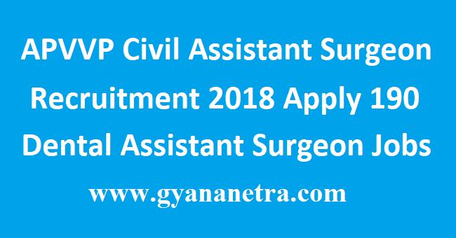 APVVP Civil Assistant Surgeon Recruitment