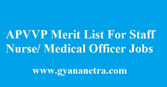 APVVP Merit List 2018