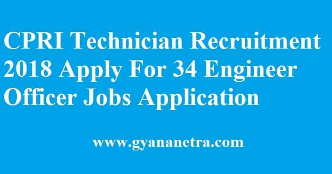 CPRI Technician Recruitment