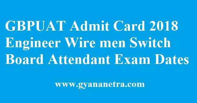 GBPUAT Admit Card
