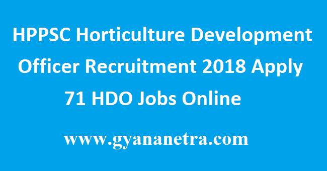 HPPSC Horticulture Development Officer Recruitment