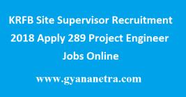 KRFB Site Supervisor Recruitment