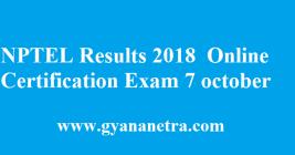 NPTEL Results 2018