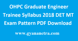 OHPC Graduate Engineer Trainee Syllabus