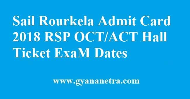 Sail Rourkela Admit Card