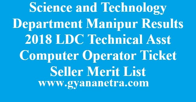Science and Technology Department Manipur Result