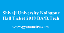 Shivaji University Kolhapur Hall Ticket 2018