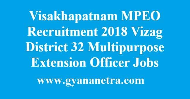 Visakhapatnam MPEO Recruitment