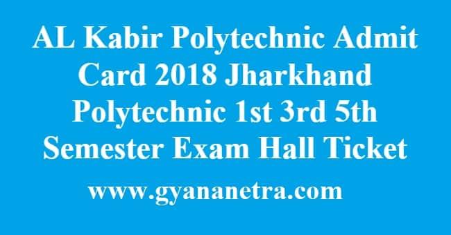 AL Kabir Polytechnic Admit Card