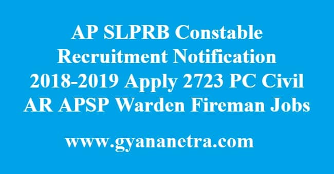 AP SLPRB Constable Recruitment Notification