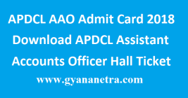 APDCL AAO Admit Card 2018