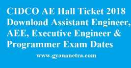 CIDCO AE Hall Ticket