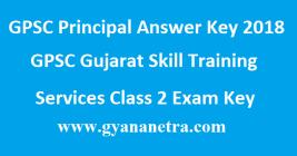GPSC Principal Answer Key 2018