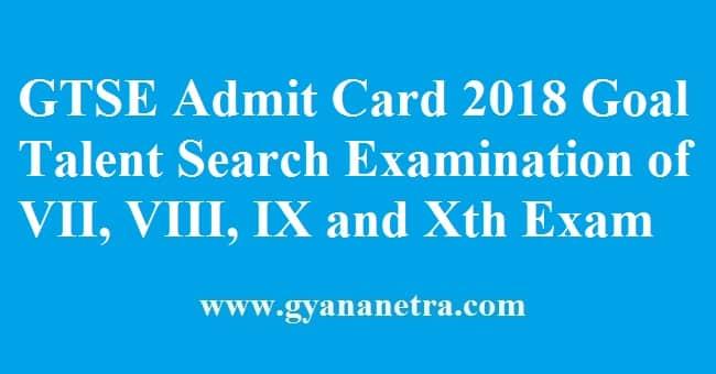 GTSE Admit Card