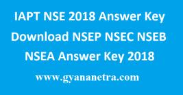 IAPT NSE 2018 Answer Key