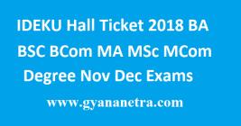 IDEKU Hall Ticket 2018